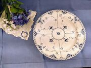 Hard To Find 1959 Royal Copenhagen Blue Fluted Full Lace 13 In Round Platter