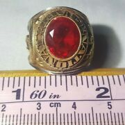 Vintage - Military National Guard Ring - Gold Red - Size 8 - Alpha Brand