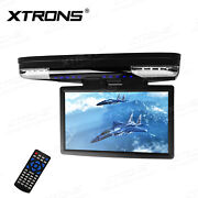 15.6 Lcd Coach Journey Car Video Flip Drown Monitor Roof 1080p Hdmi Player Fm