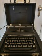 Royal Portable Typewriter- Heavy Cast Metal Frame. Made In The 30and039s. New Ribbonandnbsp