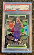 2019 Luka Doncic Panini Obsidian Electric Etch Green Refractor 25/25 Psa 9 🔥📈