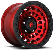 20x10 Candy Red Black Wheels Fuel D632 Zephyr 8x180 -18 Set Of 4