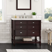 Ove Decors Coventry 36 In. Dark Espresso Single Sink Vanity With Cultured Stone