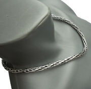 98g 20 51cm Heavy Woven Snake Tribal Art 925 Sterling Silver Necklace Chain