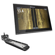 Go12 Xse Combo W/active Imaging 3-in-1 Transom Mount Transducer Andamp C-map D...
