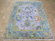 8and0399 X 11and03910 Hand Knotted Lavender Colorful Modern Oushak Oriental Rug G10535