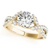 Round 0.80 Ct Natural Diamond Engagement Ring 18k Solid Yellow Gold Size 5 6 7 8