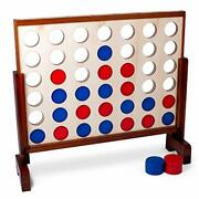 Brybelly Giant Four In A Row | Classic Board Game For Outdoor Parties Bbqs Wed