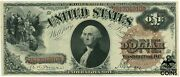 Series Of 1880 United States 1 Red Seal Bruce And Wyman Large Wash. Note Fr 30