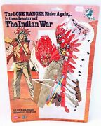Gabriel Marx Toys The Lone Ranger The Indian War Figure Outfit Moc`77 Top Rare