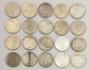 Roll Of 20 Silver Peace Dollars Mixed Dates And Mints