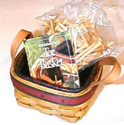 Longaberger Rare Retired Fathers Day Golf Basket Set + The Bag Of Golf Tee's
