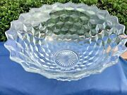 Fostoria American Large Punch Bowl 18andrdquo Wide 8 1/2andrdquo Tall
