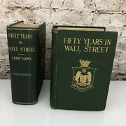 Fifty Years In Wall Street By Henry Clews 1915 2nd Edition Antique Collectible