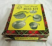 Girl Scout Mess Kit With Extras Handkerchief Sewing Kit Necktie