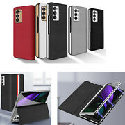 Case Magnetic Flip Leather Cover For Samsung Galaxy Z Fold2/w21 Shell Sleeve Hya