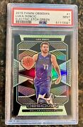 2019 Luka Doncic Panini Obsidian Electric Etch Green Refractor 04/25 Psa 🔥🔥📈