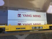 Menards 279-3688 O Scale Ttx Well Container Car And 2 Yang Containers