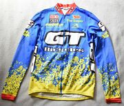 Aussie Gt Rock Shox Mtb Long Sleeve Cycling Jersey Mens S Red Blue Vintage 90s