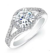 1.24 Ct Round Real Diamond Beautiful Rings For Women 18k White Gold Size 6 7 8 9