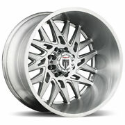 24x14 Brushed Texture Wheels American Truxx At184 Dna 5x5/5x127 -76 Set Of 4
