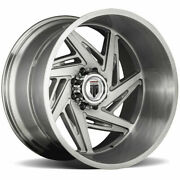 22x12 Brushed Texture Wheels American Truxx At1906 Spiral 5x5/5x127 -44 Set Of