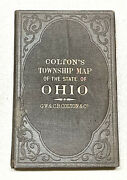 Vintage Antique 1867 Early Colton's Township Map Of The State Of Ohio Book Old