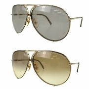Porsche Design By Carrera Sunglasses Gold Men's With Case And Spare Lens Used