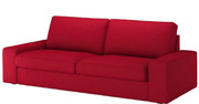 Ikea Kivik Sofa Bed Cover Only Slipcover Dansbo Red 302.262.86 Discontinued