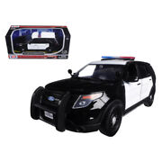 2015 Ford Police Interceptor Unmarked Black And White 1/24 Diecast Model Car ...