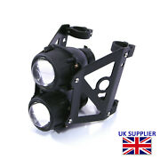 Motorcycle Headlight Set Streetfighter Projector Dual Lights For 44/45mm Forks
