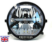 Homologated Led Motorcycle 7 Headlight And Brackets Cafe Racer Streetfighter