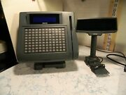 Micros Keyboard Workstation 4 With Lcd Pole Display Untested