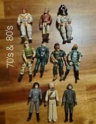 Vintage 70's 80's 90's 2000's Star Wars Gi Joe And More Action Figures Lot Of 60