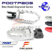 Laser Buzz Front Wide Footpegs For Yamaha Fjr 1300 01-13 08 09 10 11 12 -mc