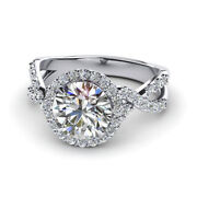 Round Cut 0.96 Ct Natural Diamond Engagement Rings 14k White Gold Size 5 6 7.5 8