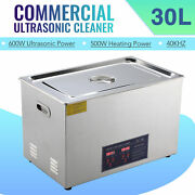 Professional 30l Ultrasonic Cleaning Jewelry Cleaner Machine W/ Heater And Timer