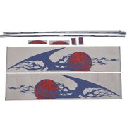 Four Winns Boat Side Decal 055-3357   Sl222 Red Navy Blue Set Of 10
