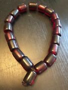 Old Antique Necklace Cherry Amber Faturan Plastic Prayer Beads Rosary 214g