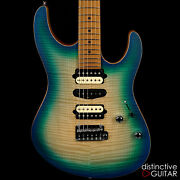 New Suhr Modern Satin Flame Limited Edition Island Burst Hsh Roasted Maple Neck