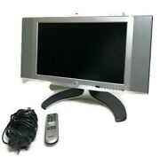 Dell W1700 Flat Panel 17 Inch Widescreen Lcd Tv Monitor Tested Gaming Remote