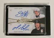 11/12 Ud Sp Authentic Sidney Crosby Mario Lemieux Dual Sign Of The Times 2 Auto