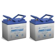 Power-sonic 12v 35ah Sla Replacement Battery For Murray 30545 Lawnmower - 2 Pack