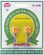 Model Power N Scale Lighted Gas Station Signs - Shell