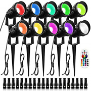 Zuckeo 10w Rgb Color Changing Landscape Lighting Low Voltage Led Landscape With