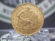 1919 Colombia 5 Peso Gold Coin .2355 East Coast Coin And Collectables Inc.