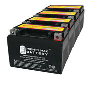 Mighty Max Ytx4l-bs Sla Battery For Ride On Mower Atv Quad Trail Buggy - 4 Pack