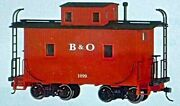 Bachmann Vintage 27712 On30 Freight Cars Caboose- Baltimore And Ohio W/lighting