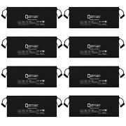 Mighty Max 12v 200ah 4d Sla Battery Replacement For Solar Wind Power - 8 Pack