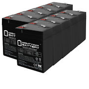 Mighty Max 6v 4.5ah Battery Replaces Cgr Medical Corp 4900 Shampaine - 10 Pack